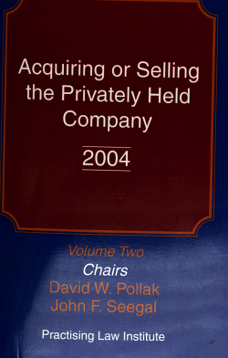 Acquiring Or Selling the Privately Held Company PDF