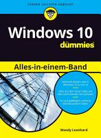 Windows 10 Alles in einem Band f  r Dummies PDF