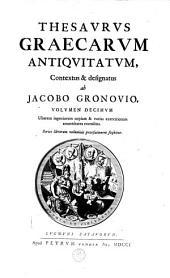 Thesaurus Graecarum antiquitatum ...