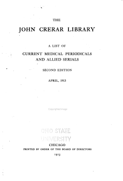 A List of Current Medical Periodicals and Allied Serials PDF