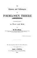 Klassen und Ordnungen des Thier Reichs PDF