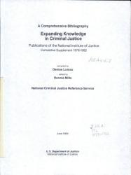 Expanding Knowledge In Criminal Justice Book PDF