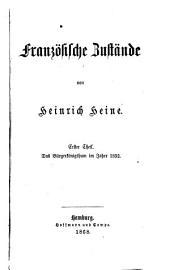 Heinrich Heine's sämmtliche Werke: Französische Zustände