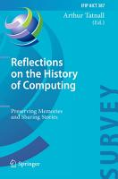 Reflections on the History of Computing PDF