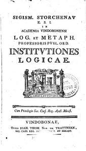 INSTITVTIONES LOGICAE