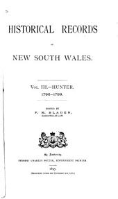 Historical Records of New South Wales: Hunter, 1796-1799