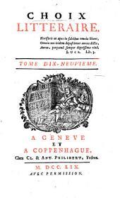 Choix littéraire: Volumes19à21