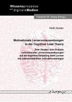 Motivationale Lernervoraussetzungen in der Cognitive Load Theory PDF