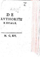 De l'authorité royale