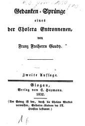 Gedanken-Sprünge eines der Cholera Entronnen