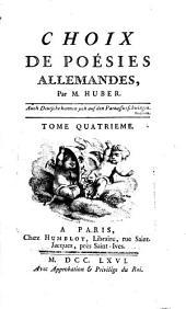 Choix De Poésies Allemandes: Volume4