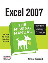 Excel 2007  The Missing Manual PDF