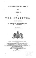 Chronological Table and Index of the Statutes PDF