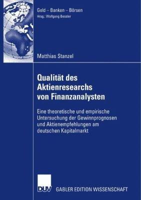 Qualit  t des Aktienresearch von Finanzanalysten PDF
