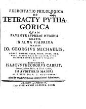 Exercitatio philol. de tetracty Pythagorica
