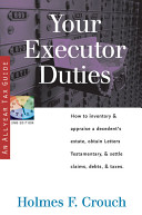 Your Executor Duties Book