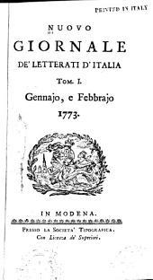 Nuovo giornale de letterati d'Italia: Volumi 1-2