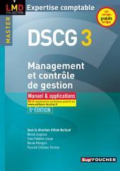 DSCG 3 Management et contrôle de gestion Manuel et applications 6e édition