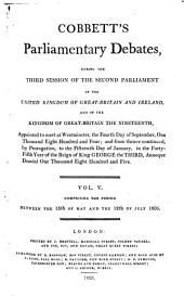 Parliamentary Debates: Official Report : ... Session of the ... Parliament of the United Kingdom of Great Britain and Ireland, Volume 5
