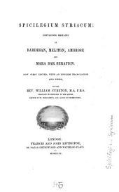 Spicilegium Syriacum