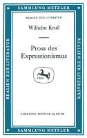 Prosa des Expressionismus PDF
