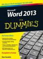 Word 2013 f  r Dummies