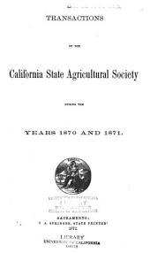 Transactions of the California State Agricultural Society