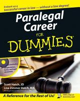 Paralegal Career For Dummies PDF