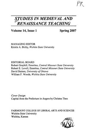 Studies in Medieval and Renaissance Teaching PDF