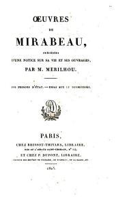 ŒUvres de Mirabeau: Des lettres de cachet et des prisons d'état, 2. ptie. Essai sur le despotisme