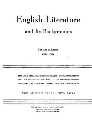 The age of reason  1700 1760  PDF