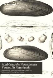 Jahrbücher des Nassauischen Vereins für Naturkunde: Bände 45-47