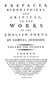Prefaces, Biographical and Critical, to the Works of the English Poets: Pope