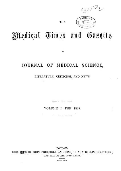 Download Medical Times and Gazette Book