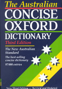 The Australian Concise Oxford Dictionary of Current English PDF