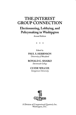 The Interest Group Connection PDF