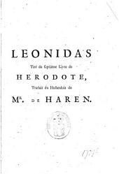 Leonidas tiré du septième livre de Herodote