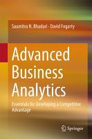 Advanced Business Analytics PDF