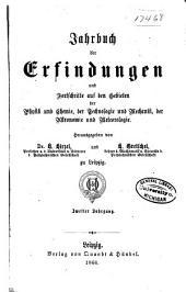 Jahrbuch der Erfindungen und Fortschritte auf den gebieten der physik, chemie und chemischen technologie, der astronomie und meteorologie ...: Band 2