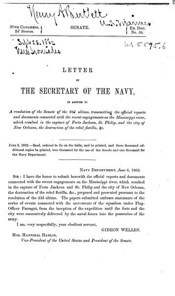 Download Letter of the Secretary of the Navy Book