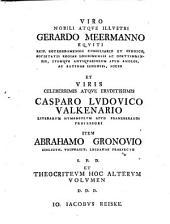 Theocriti reliquiae, utroque sermone cum scholiis graecis et commentariis integris