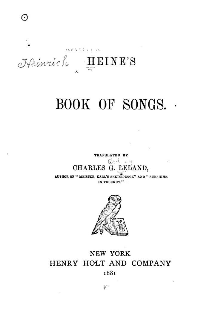 Heine's Book of Songs