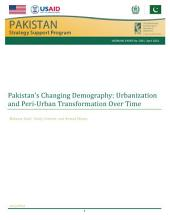 Pakistan's changing demography: Urbanization and peri-urban transformation over time