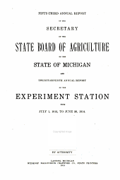 Annual Report of the Agricultural Experiment Station, Michigan State University: Volume 27