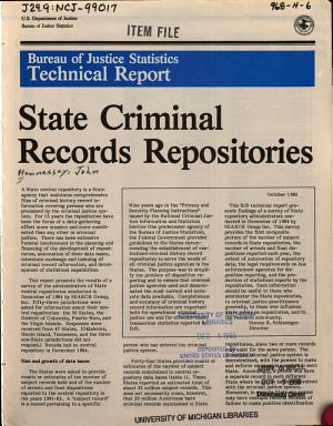 State Criminal Records Repositories PDF