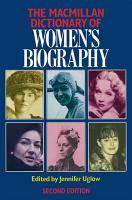 Macmillan Dictionary of Women s Biography PDF