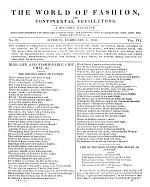 The World of Fashion, and Continental Feuilletons