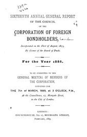Report of the Council of the Corporation of Foreign Bondholders: Volume 16