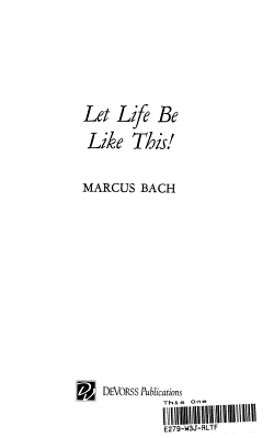 Let Life be Like This  PDF