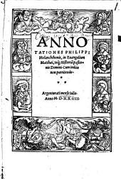 In evangelium Matthaei annotationes